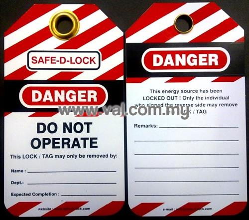 Reusable Lockout Tags